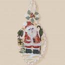 groothandel Foto's & lijsten: Plauen Stick Kerstman Fensterbild 31cm