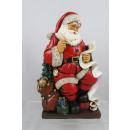 Großhandel Home & Living: Weihnachtsmann auf Hocker