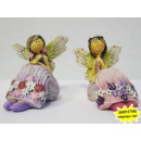 grossiste Figurines & Sclulptures: Elf assis avec des  robes de rose et violet