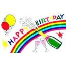 mayorista Alimentos y bebidas: Happy Birthday 90x150cm de la bandera / de la band