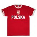 Großhandel Shirts & Tops: T-Shirt Polen mit Stickwappen !!! EM 2020 !!!