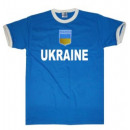 Großhandel Shirts & Tops: T-Shirt Ukraine mit Stickwappen !!! EM 2020 !!!