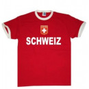 Großhandel Shirts & Tops: T-Shirt Schweiz mit Stickwappen !!! EM 2020 !!!
