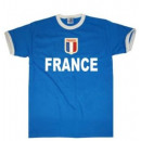 Großhandel Shirts & Tops: T-Shirt Frankreich mit Stickwappen !!! EM 2020 !!!