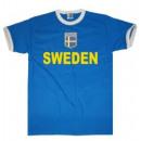 Großhandel Shirts & Tops: T-Shirt Schweden mit Stickwappen !!! EM 2020 !!!
