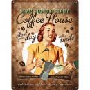 Großhandel Geschäftsausstattung: Blechschild Coffee House 30 x 40cm