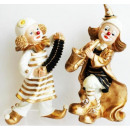 Großhandel Geschenkartikel & Papeterie: Clowns gold mit Instrumenten 22cm