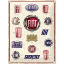 Großhandel Bilder & Rahmen: Blechschild Fiat 30 x 40cm