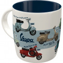 Großhandel Tassen & Becher: Tasse aus stabiler Keramik Vespa 0,33 l
