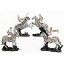 Großhandel Figuren & Skulpturen: Polyresin  Tempelritter auf Pferd 10.5 x 12.5cm