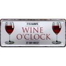 groothandel Food producten: Blikken bord alcohol wijn 28x12cm