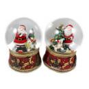 wholesale Gifts & Stationery: Snowglobe Ø 100mm as music box Santa Claus