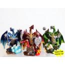 grossiste Figurines & Sclulptures: Dragon figure avec  3 têtes et de paillettes 13cm