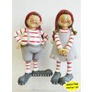 grossiste Figurines & Sclulptures: Noël garçon et une fille elfes 17cm