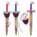 wholesale Wooden Toys: Wooden sword princess about 53cm + sword holder