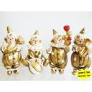 Großhandel Geschenkartikel & Papeterie: Clowns gold mit Instrumenten 11cm