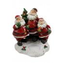 groothandel Kaarsen & standaards: Kerstman trio met  Teelichthalter 14x13,5x14c