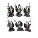 Großhandel Figuren & Skulpturen: Schwarze Drachen mit Ritterrüstung + Schwert