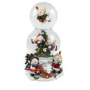 wholesale Snow Globes: Double snow globe Ø 80mm / 100mm Musical