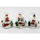 wholesale Gifts & Stationery: Snowglobe Ø 45mm with sledge track base 6,3cm