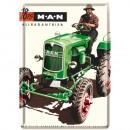 Großhandel Spielwaren: Blechpostkarte MAN Traktor 10 x 14cm