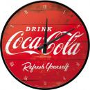 Großhandel Uhren & Wecker: Wanduhr Coca - Cola Ø 31cm