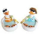 mayorista Conjuntos de jardin: Seagull con gafas  de sol y beber en la piscina de