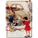 Großhandel Glückwunschkarten: Blechpostkarte Volkswagen 10 x 14cm