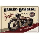 Großhandel Geschenkartikel & Papeterie: Blechpostkarte  Harley - Davidson 10 x 14cm