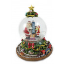 wholesale Gifts & Stationery: Snowglobe Ø 100mm with music box fir tree 18cm
