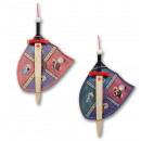 wholesale Wooden Toys: Set of 2 Prince big wood sword + shield