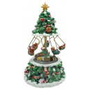 wholesale Puzzle: Music box 20cm Christmas tree with rotating train
