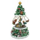 wholesale Toys: Music box 20cm Christmas tree with rotating train