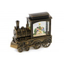 wholesale Puzzle: Music box train with light and snowdrift 19cm