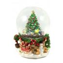groothandel Woondecoratie: Sneeuwbol / muziekdoos Ø 120 mm kerstboom