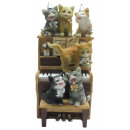 wholesale Gifts & Stationery: Music box 16.5cm piano with cats