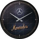 Großhandel Uhren & Wecker: Wanduhr Mercedes - Benz Ø 31cm
