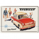 Großhandel Glückwunschkarten: Blechpostkarte Trabant 10 x 14cm