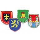 groothandel Speelgoed: Houten schild Knight kleurrijke 35cm