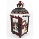 wholesale Wind Lights & Lanterns: Metal lantern snowman 25,5cm Christmas