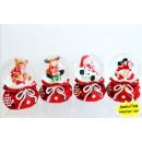 grossiste Boules de neige: Snowglobe sur le  sac de cadeau de Noël