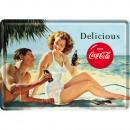 Blechpostkarte Coca - Cola 10 x 14cm