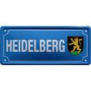 Großhandel Fanartikel & Souvenirs: Blechschild Ortsschild Heidelberg 28x12cm