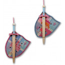 wholesale Wooden Toys: Set of 2 princess big wooden sword + shield