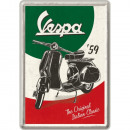 Großhandel Glückwunschkarten: Blechpostkarte Vespa 10 x 14cm
