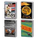 Großhandel Feuerzeuge: Metall Sturmfeuerzeuge Biker's Corner