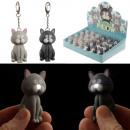 Großhandel Schlüsselanhänger: Schlüsselanhänger Katze mit Licht und Miau Sound
