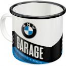 Emaille - Becher BMW Ø 8 x 8cm 360ml