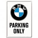 Blechpostkarte BMW 10 x 14cm