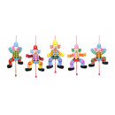 wholesale Wooden Toys: Wooden Marionette Clown 5X by 17cm